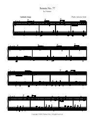 Sonata No. 76 in F sharp minor - Chateau Gris Home Page