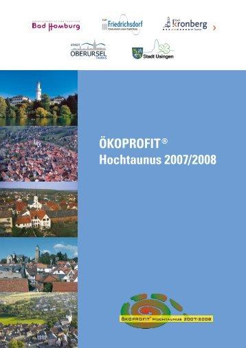 ÖKOPROFIT® Hochtaunus 2007/2008 - Stadt Oberursel