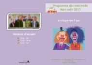 Programme des mercredis Mars avril 2013 - Cormeilles-en-Parisis