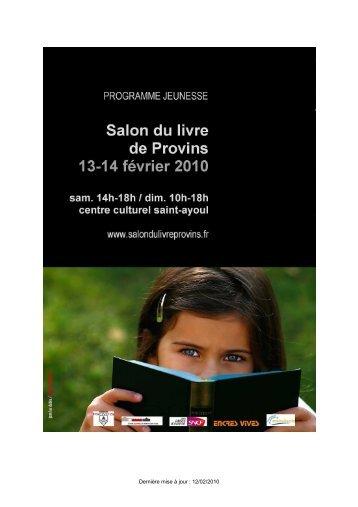 Programme jeunesse 2010 - Salon du livre de Provins