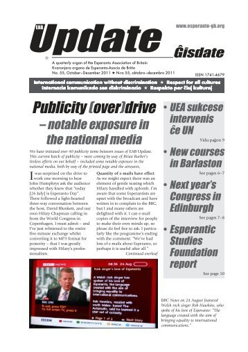 Update/No.55, 2011 - Esperanto Association of Britain