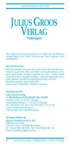 Gesamtverzeichnis 2007/2008 - Stauffenburg Verlag - Page 2