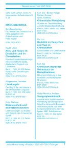 Gesamtverzeichnis 2007/2008 - Stauffenburg Verlag - Page 7