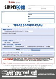 Simply Ford Trade Booking Form - Beaulieu