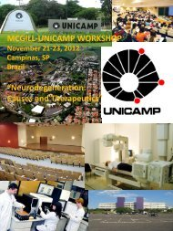 "MCGILL-UNICAMP WORKSHOP ""Neurodegeneration ... - Fcm"