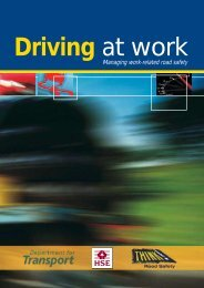INDG382 Driving at work - Occupational Road Safety Alliance