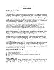 Internal Medicine Curriculum Renal Transplant Contact: Dr. Don ...