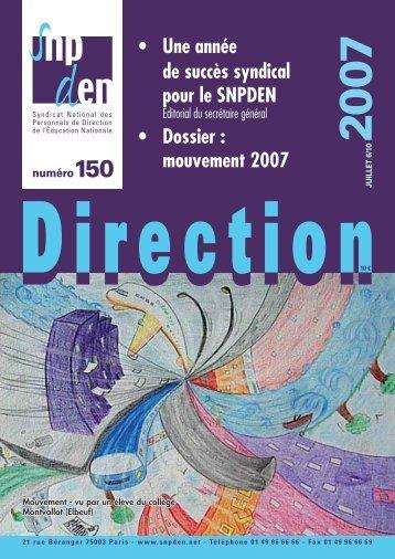 mouvement 2007 - Snpden
