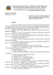 Parecer nº 01/2012 - Prefeitura de Santa Cruz do Sul