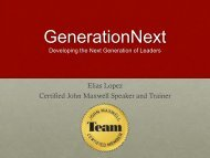 Elias Lopez, Founder and CEO of GenerationNext - CWDA