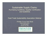 FrontierSustainableS.. - Sustainable Food Trade Association