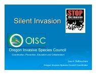 Silent Invasion - Invasive Plant Council of BC