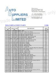 Nissan - Auto Suppliers Ltd