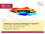 Einführung in numerische Methoden für Ingenieure - (nach A ...