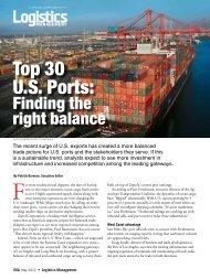 Top 30 U.S. Ports: - Logistics Management