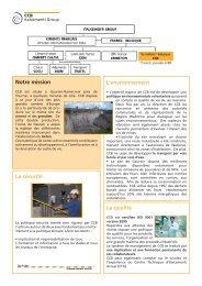L'environnement Notre mission La sécurité La qualité - Ciments Calcia