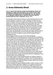 2. Arosa Edelweiss Shred - Arosa Bergbahnen