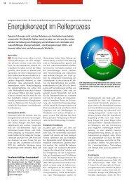 Energiekonzept im Reifeprozess - IWK Integrierte Wärme Kraft AG