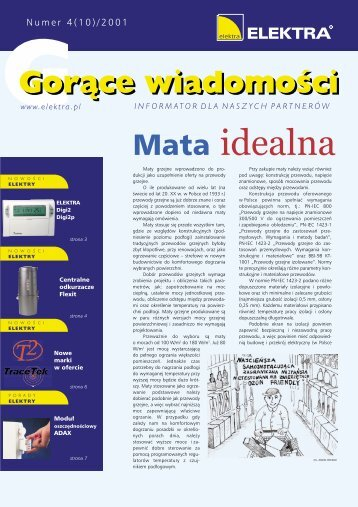 gorące wiadomości 4/2001 - Elektra