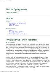 Nyt fra Sprognævnet - 2002 nr. 4 - Dansk Sprognævn