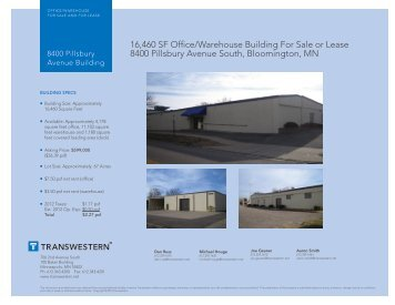 16,460 SF Office/Warehouse Building For Sale or ... - Transwestern