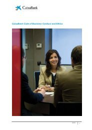 CaixaBank Code of Business Conduct and Ethics