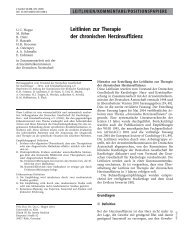 Leitlinien zur Therapie der chronischen Herzinsuffizienz - Erkan Arslan