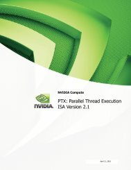 PTX: Parallel Thread Execution ISA Version 2.1 - dirac