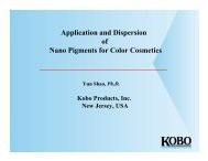 Application and Dispersion of Nano Pigments for Color Cosmetics