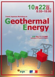 French-Japanese Workshop on Geothermal Energy - LabEx G-EAU ...