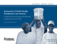 Assessment of Youth-Friendly Postabortion Care Services: