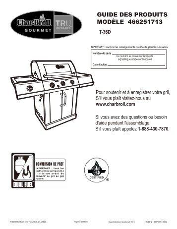 GUIDE DES PRODUITS MODÈLE 466251713 - Char-Broil Grills