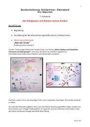 Projekt Elternarbeit - Berufsorientierung
