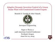 Adaptive Dynamic Inversion Control of a Linear Scalar Plant with ...