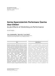 Germe Egzersizlerinin Performans Üzerine Akut Etkileri - Arastirmax