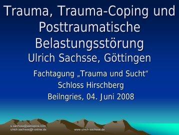 Traumabehandlung und Prinzipien therapeutischen Handelns