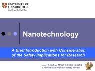 Nanotechnology: Health & Safety Implications - BOHS