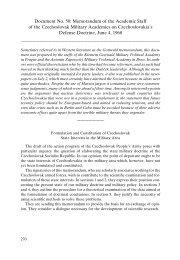 Document No. 50: Memorandum of the Academic Staff of the ...