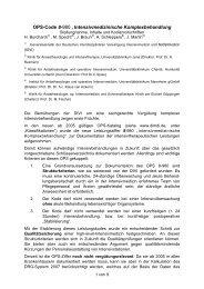 """OPS-Code 8-980""""Intensivmedizinische Komplexbehandlung - DGAI"""
