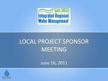 Presentation - San Diego IRWM