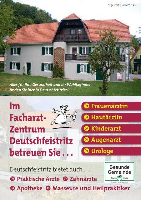Im Facharzt- Zentrum Deutschfeistritz betreuen Sie - Marktgemeinde ...