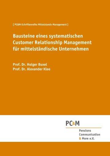 Customer Relationship Management für Mittelständler - p-c-m.info