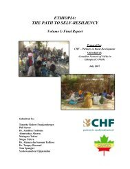 ethiopia: the path to self-resilience - Canadian Network of NGOs