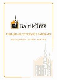 Finanšu rādītāji par 2009.gada 2. ceturksni - Baltikums
