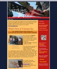 April 2011 - Veterans Inc