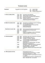 Thomas Lehn - Dialyseshunt