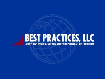 As with customers - Best Practices, LLC