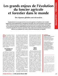 Les grands enjeux de l'évolution du foncier agricole et ... - aGter