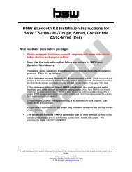 Installation instructions for 1Z0035729 based Bluetooth kits