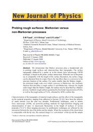 New Journal of Physics - Shahid Beheshti Faculties and PhD students